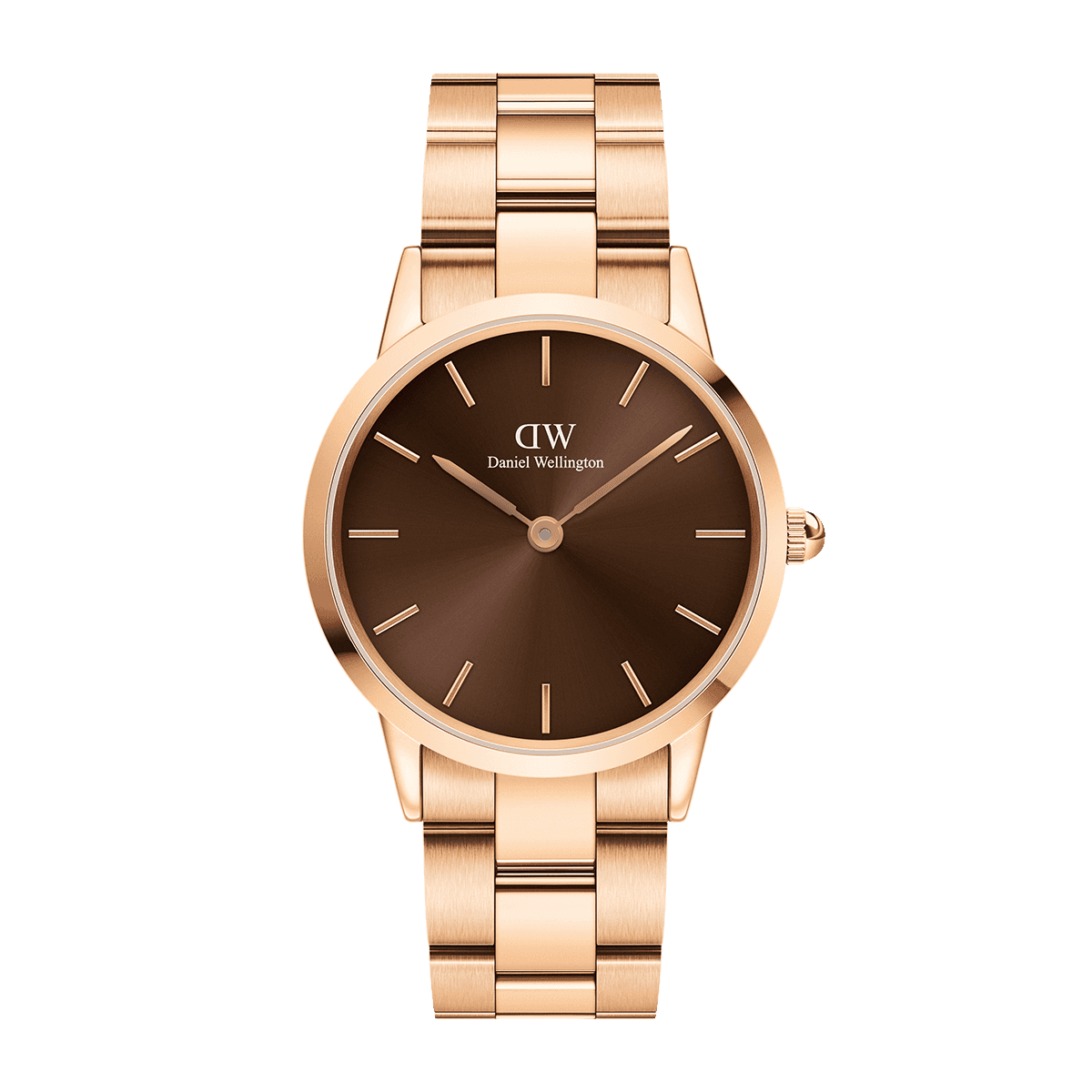 Iconic Link Amber 36 Rose Gold Brown