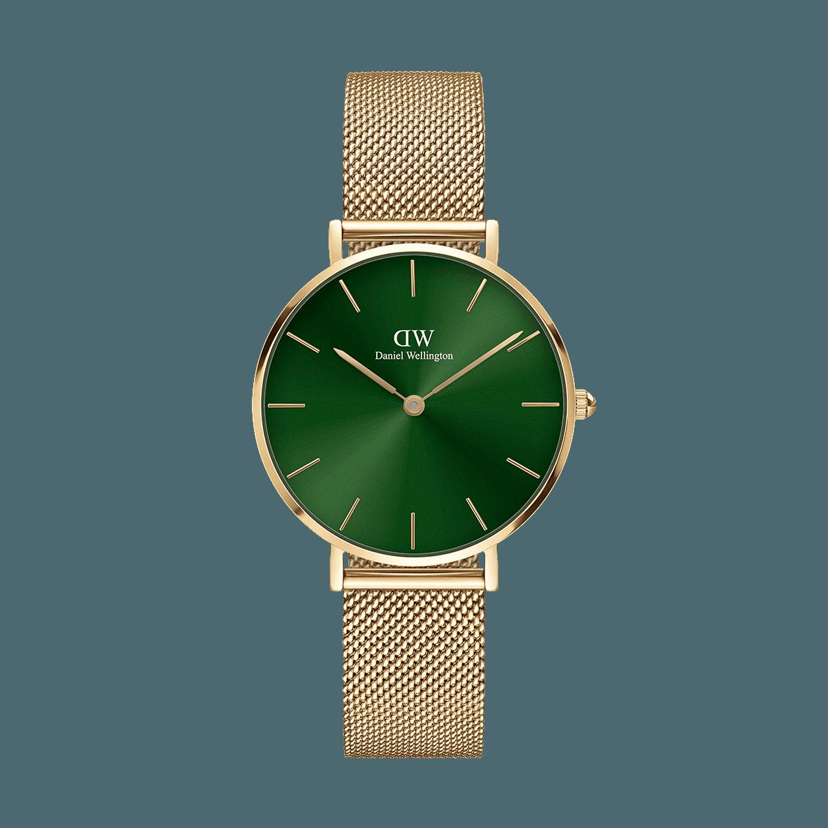 Petite Emerald 32 Gold Green