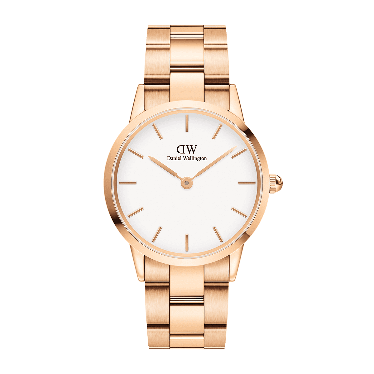 Iconic Link 36 Rose Gold White