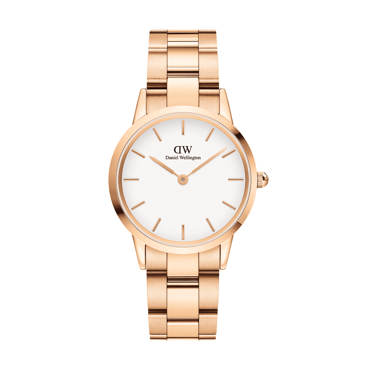 Iconic Link 32 Rose Gold White