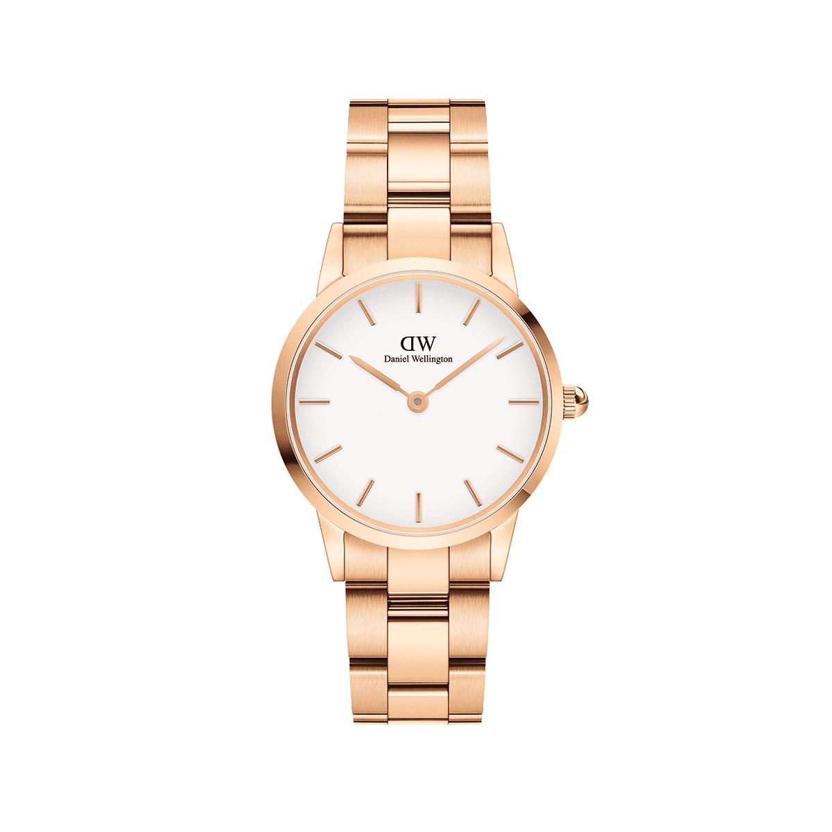 Iconic Link 28 Rose Gold White