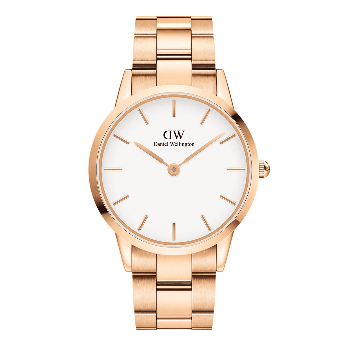 Iconic Link 40 Rose Gold White