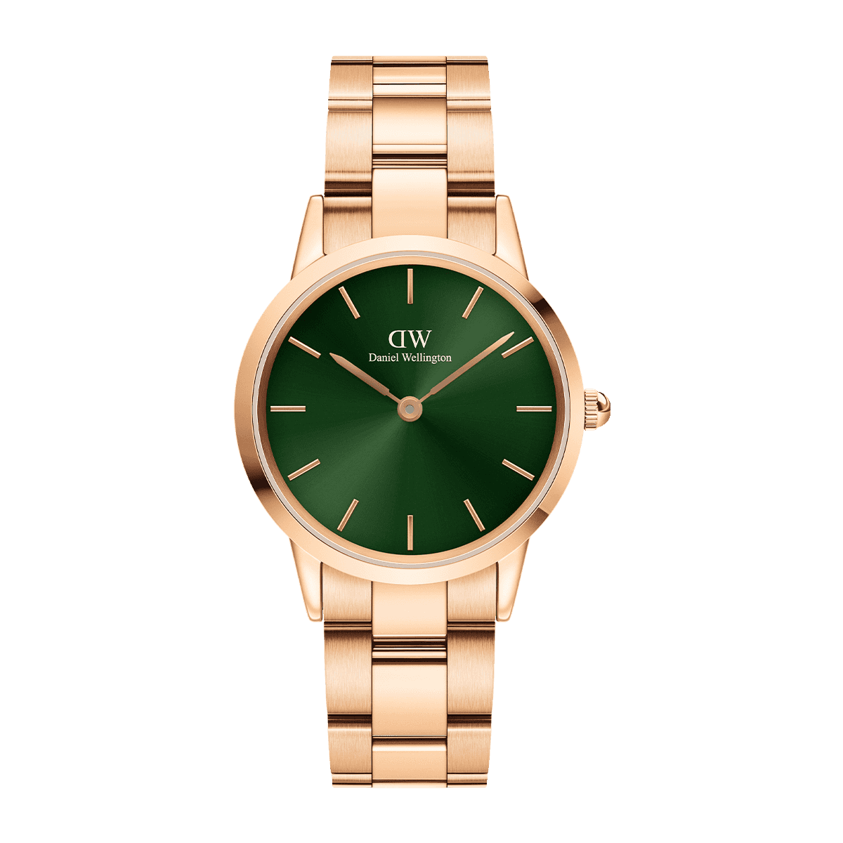 Iconic Link Emerald 32 Rose Gold Green