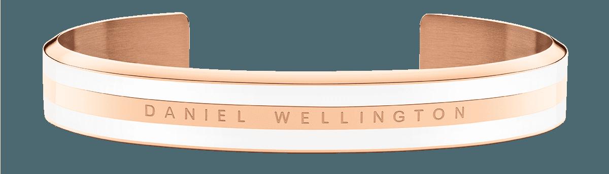 Emalie Bracelet Satin White Rose Gold Medium