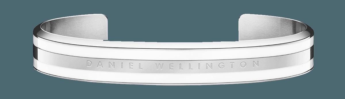 Emalie Bracelet Silver Satin White Medium