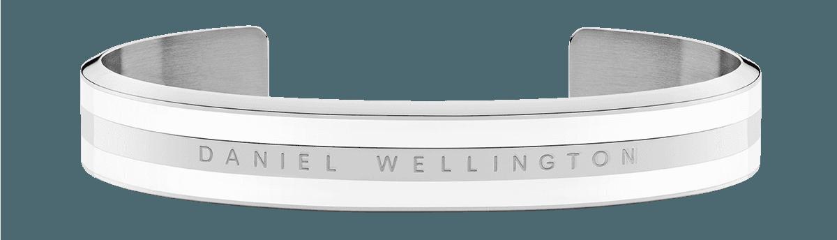 Emalie Bracelet Silver Satin White Small