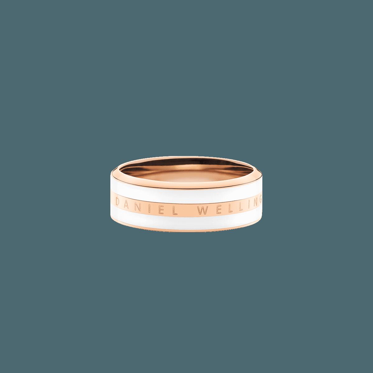 Emalie Ring Satin White Rose Gold 48
