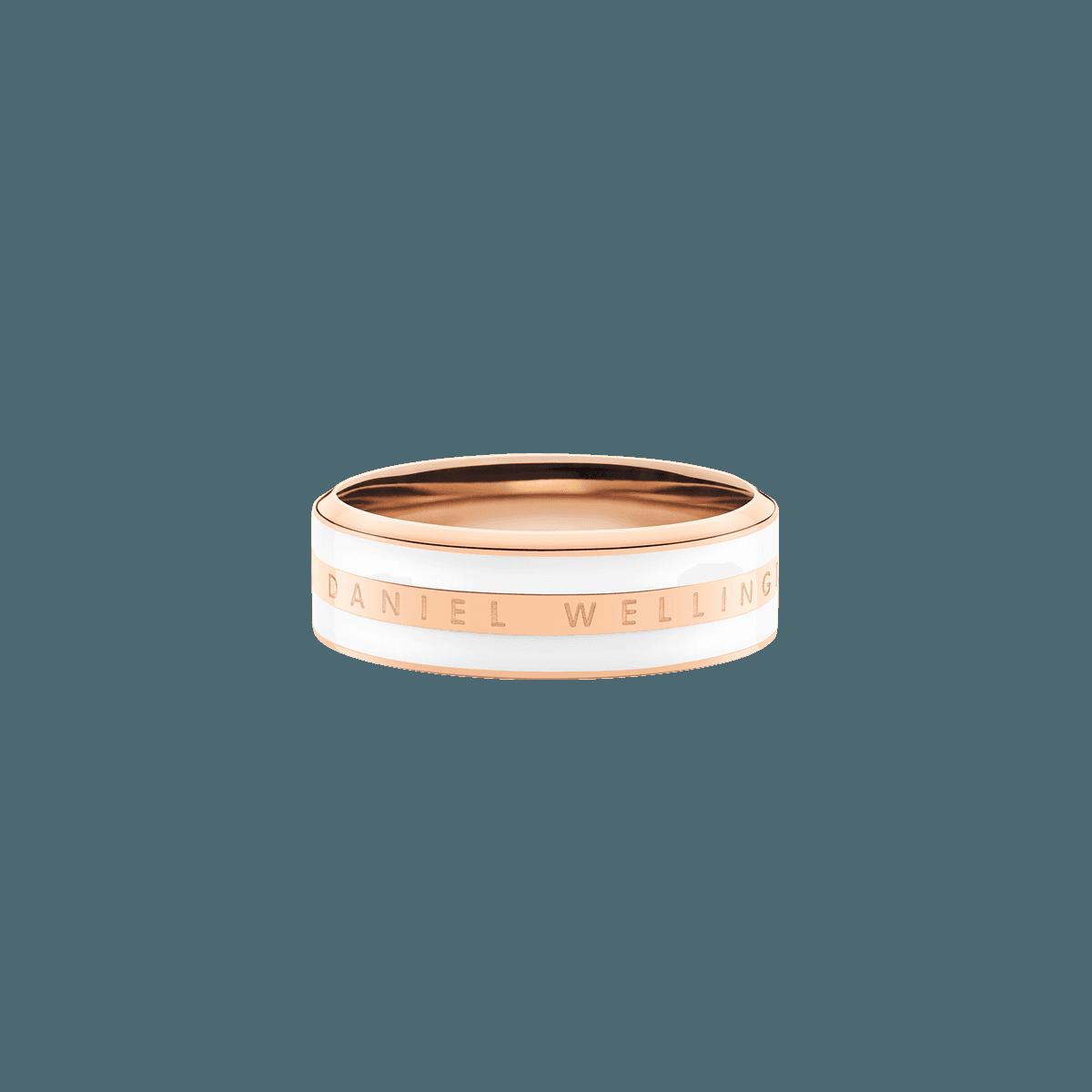 Emalie Ring Satin White Rose Gold 50