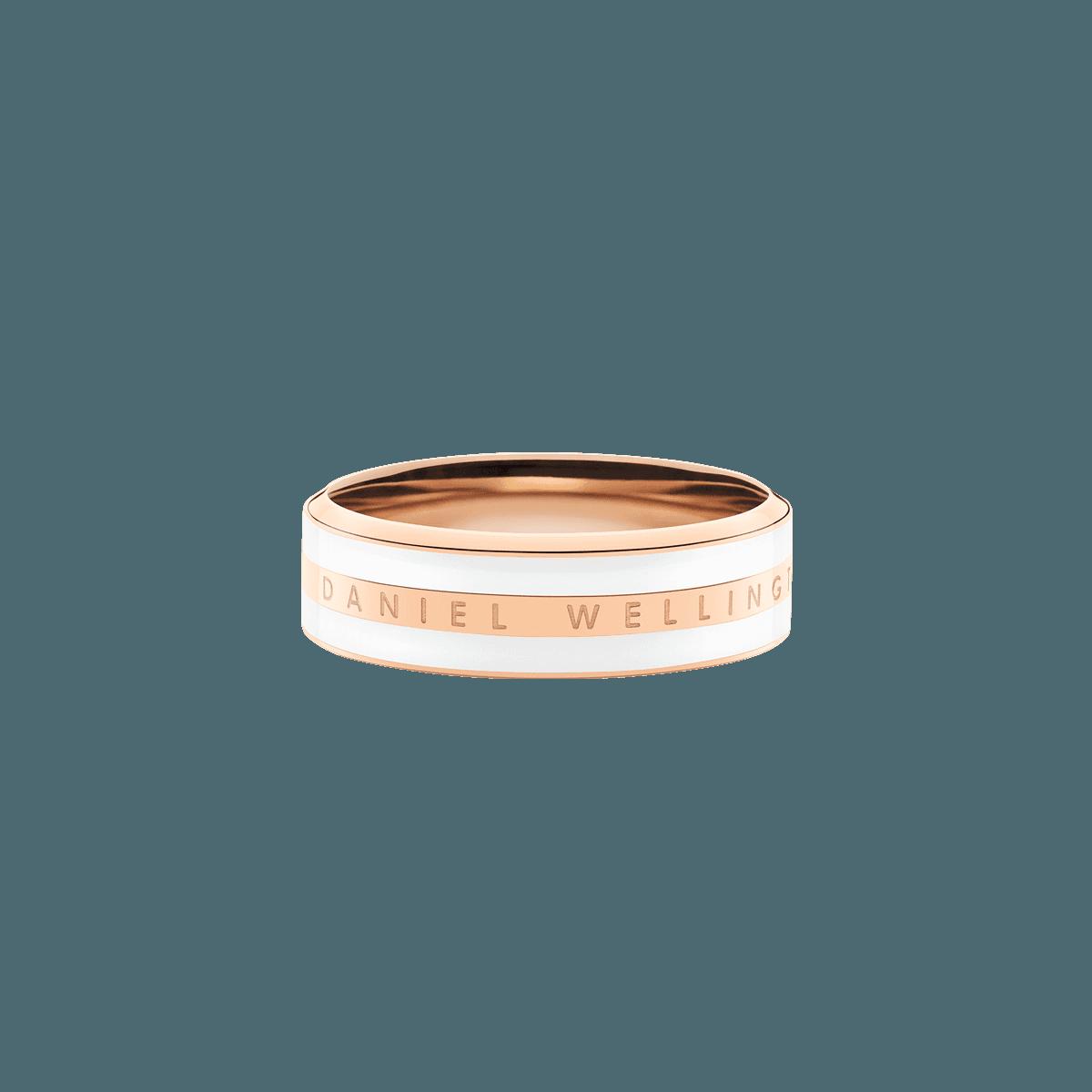 Emalie Ring Satin White Rose Gold 52