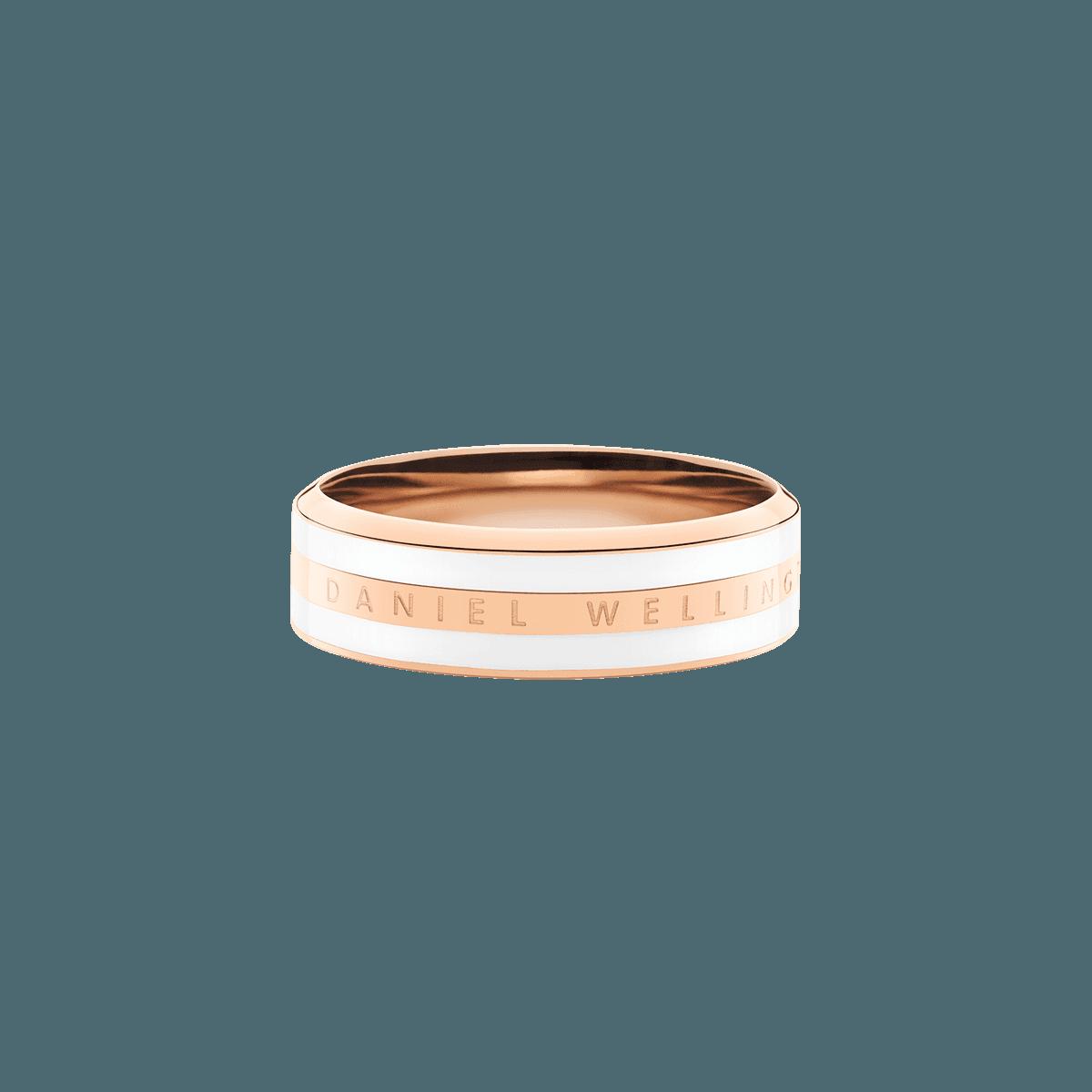 Emalie Ring Satin White Rose Gold 54