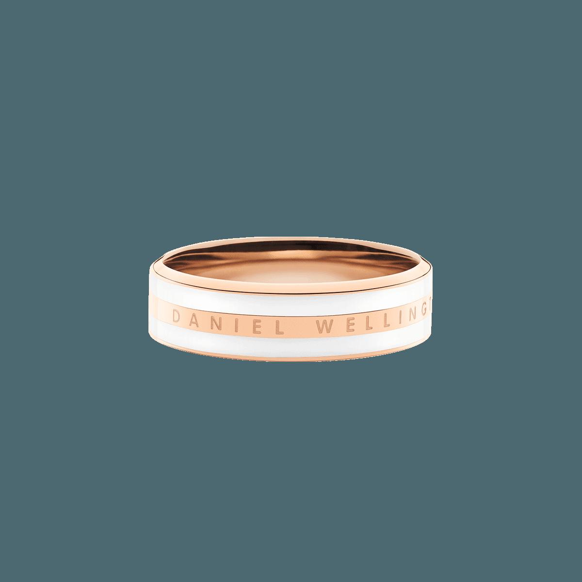 Emalie Ring Satin White Rose Gold 56
