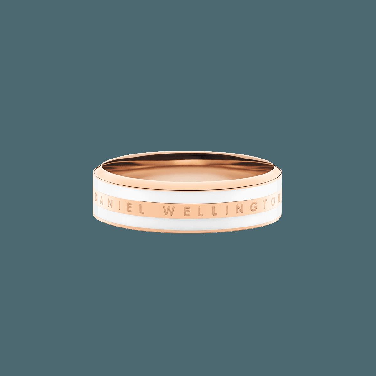 Emalie Ring Satin White Rose Gold 58