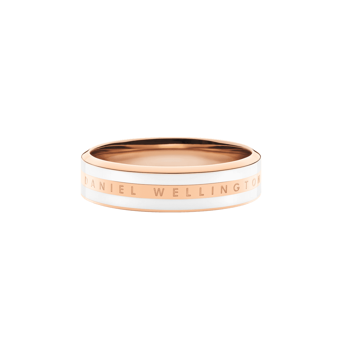 Emalie Ring Satin White Rose Gold 60