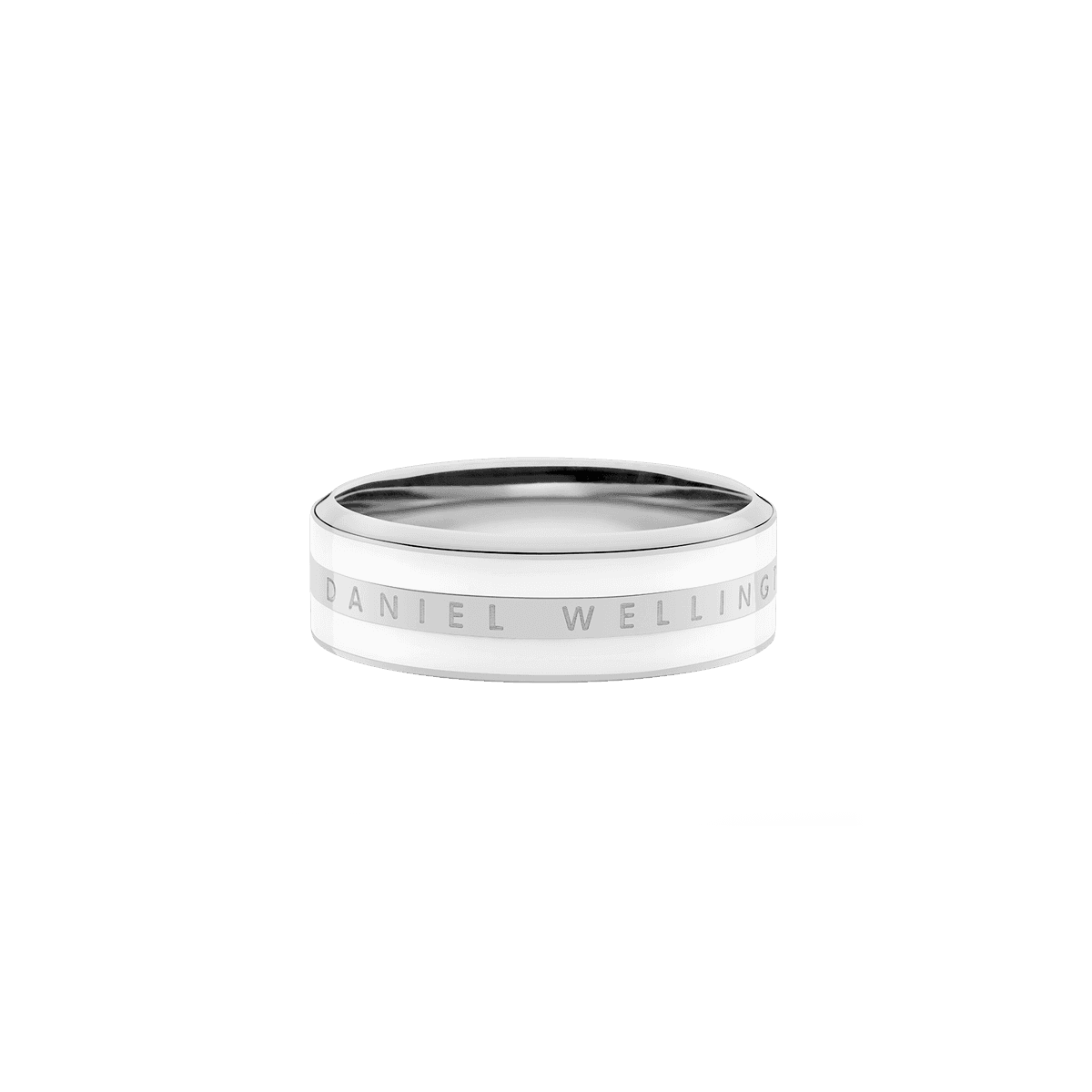Emalie Ring Satin White Silver 50