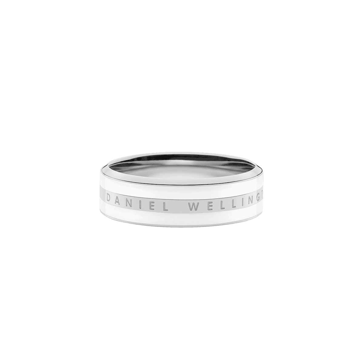 Emalie Ring Satin White Silver 52