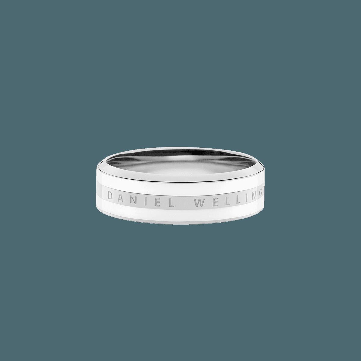 Emalie Ring Satin White Silver 54