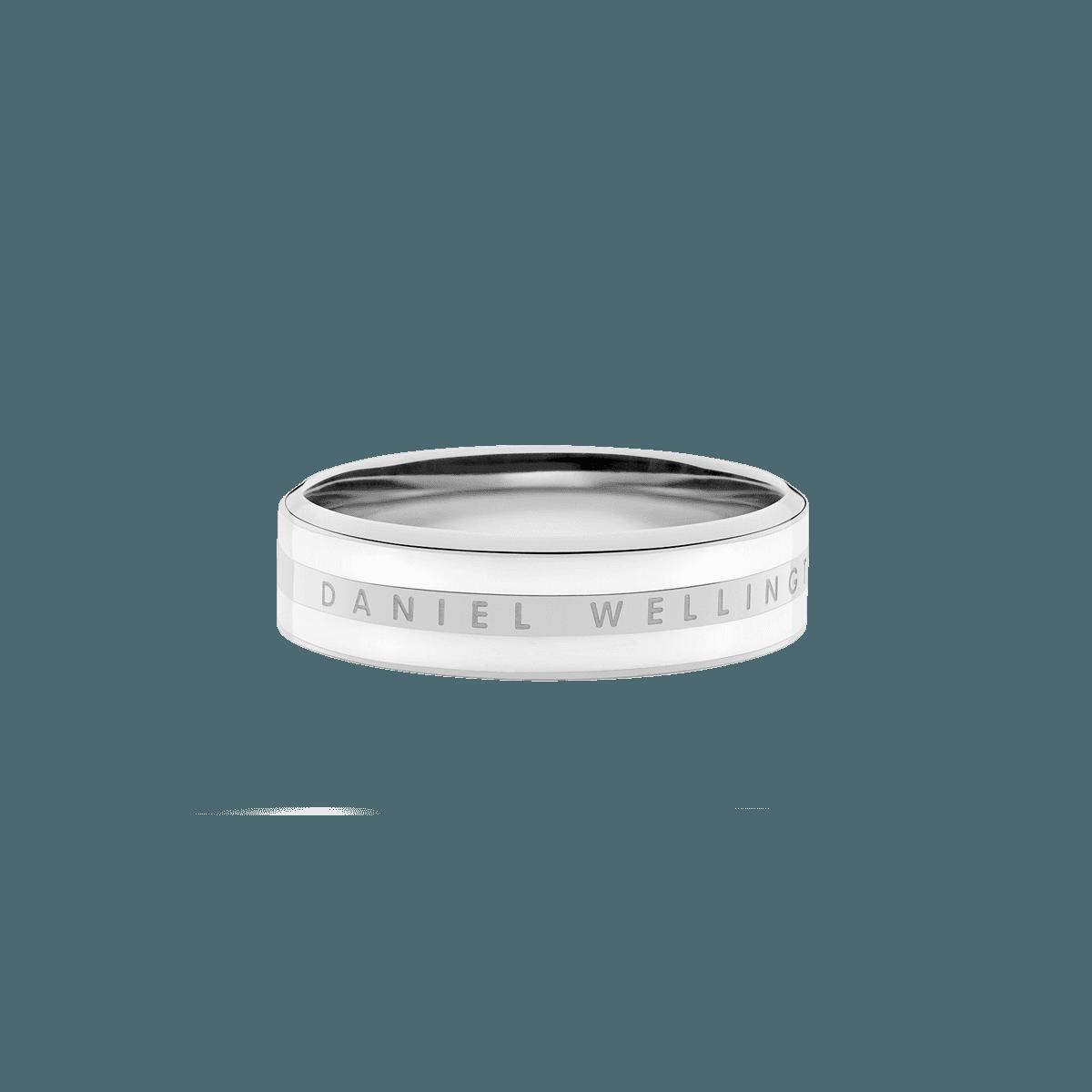 Emalie Ring Satin White Silver 56