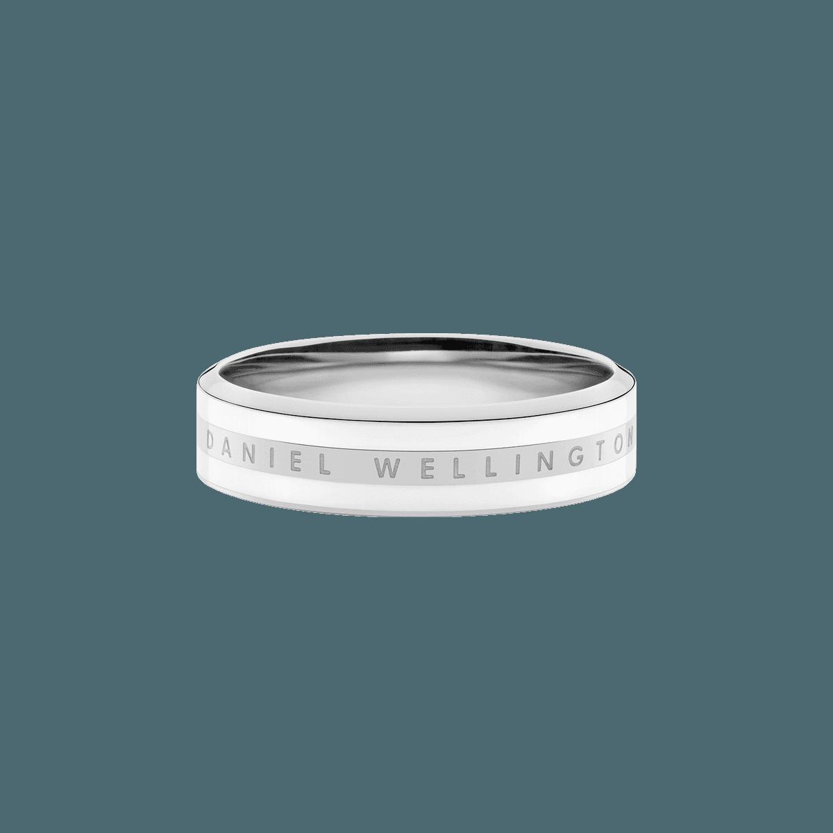 Emalie Ring Satin White Silver 60