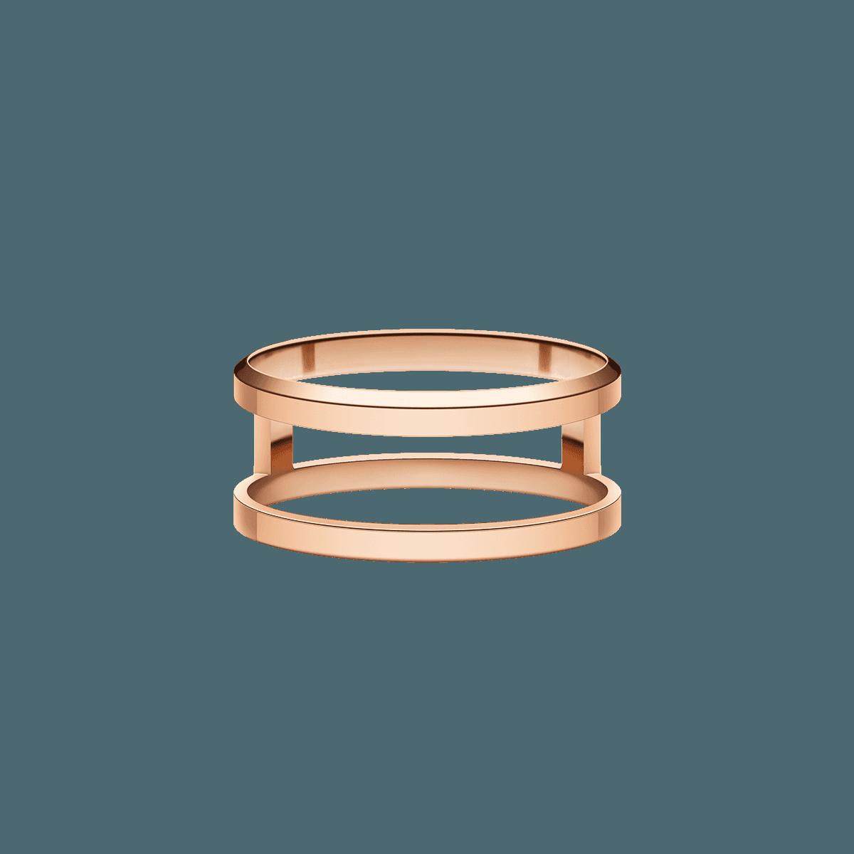 Elan Dual Ring Rose Gold 54