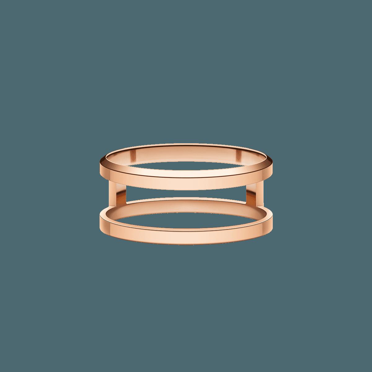Elan Dual Ring Rose Gold 56