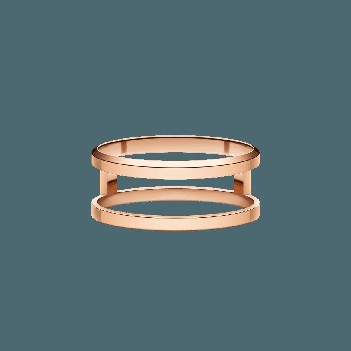 Elan Dual Ring Rose Gold 58