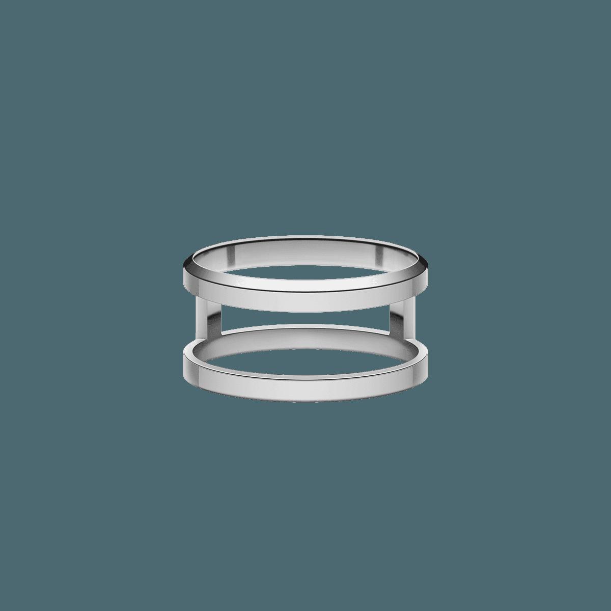 Elan Dual Ring Silver 48