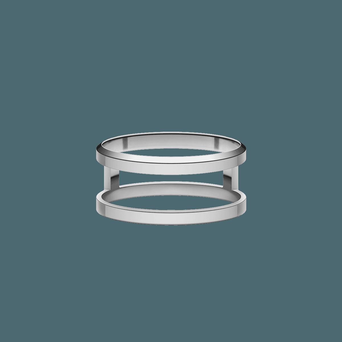Elan Dual Ring Silver 52