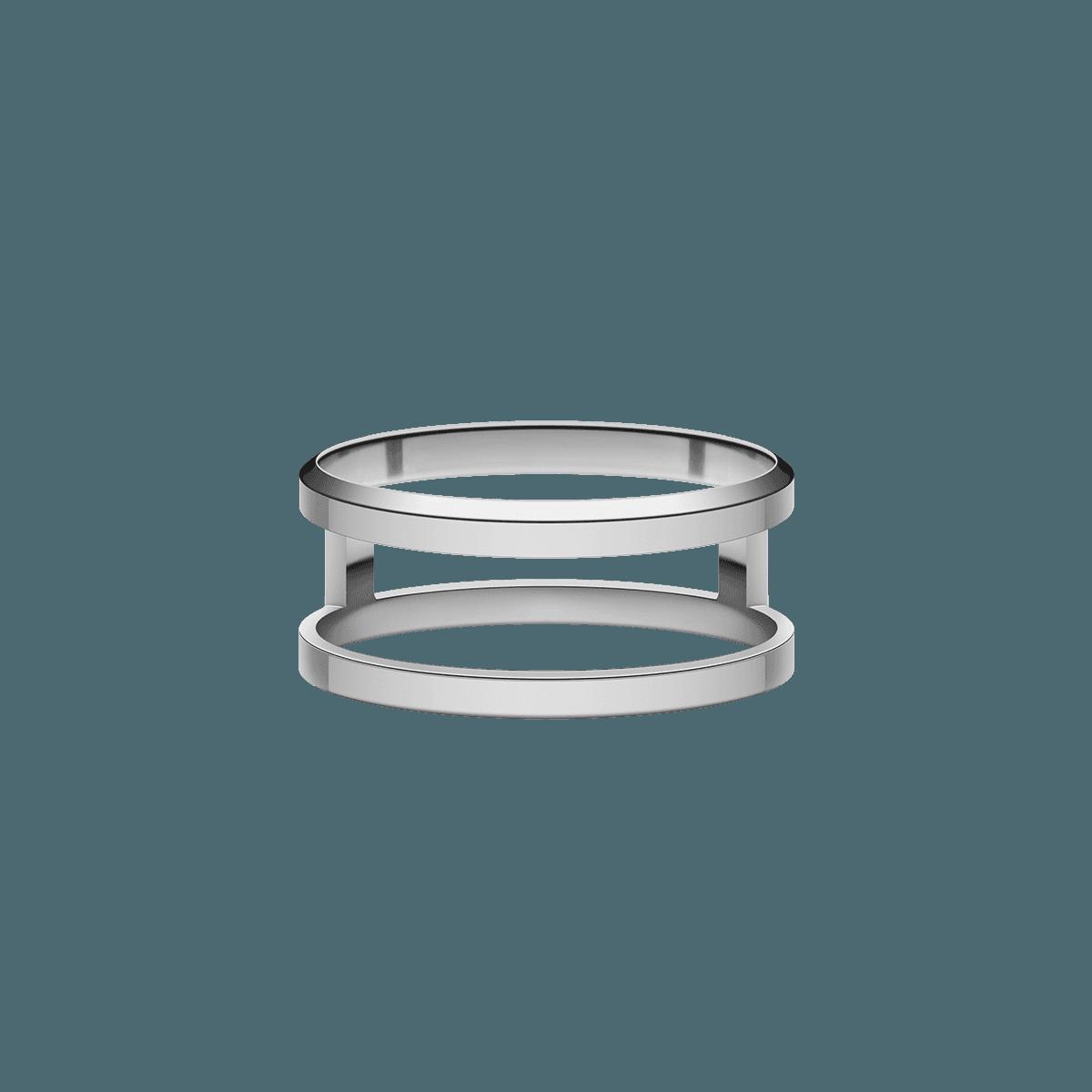 Elan Dual Ring Silver 54