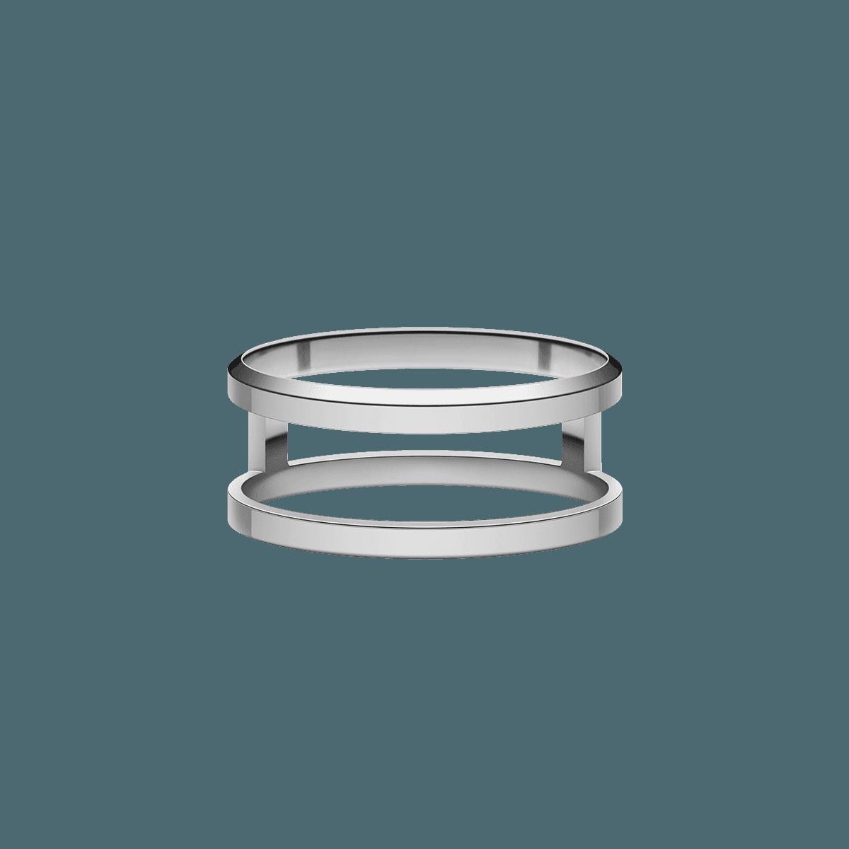 Elan Dual Ring Silver 56