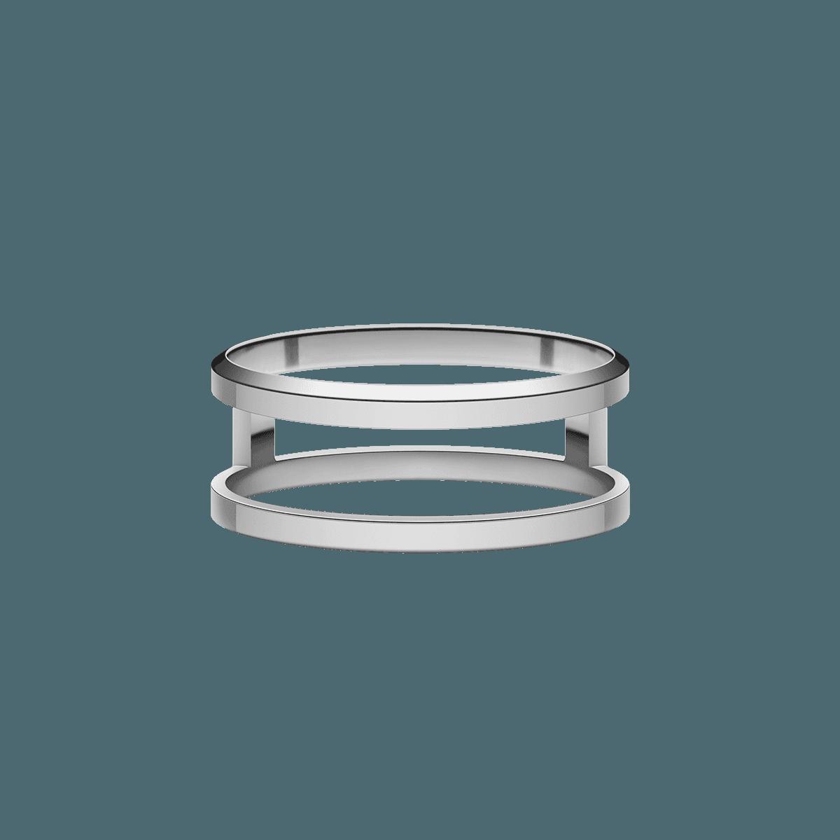 Elan Dual Ring Silver 60