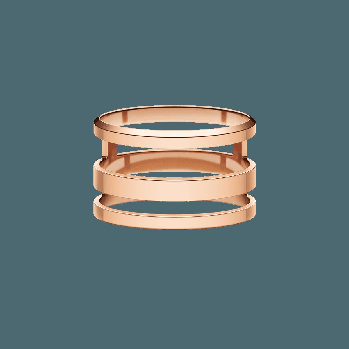 Elan Triad Ring Rose Gold 56