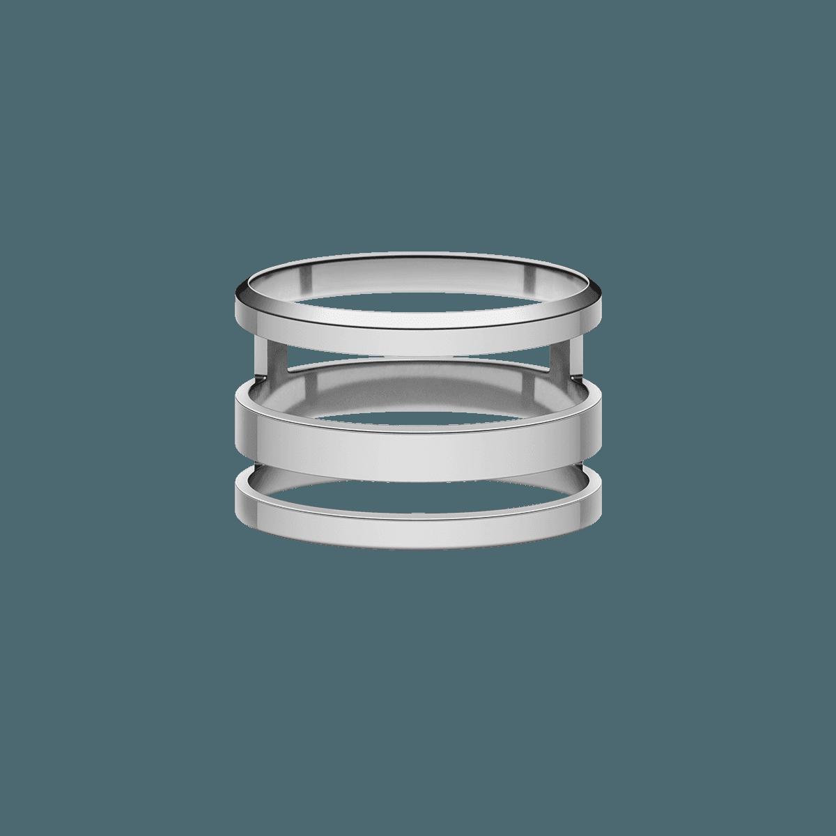 Elan Triad Ring Silver 52