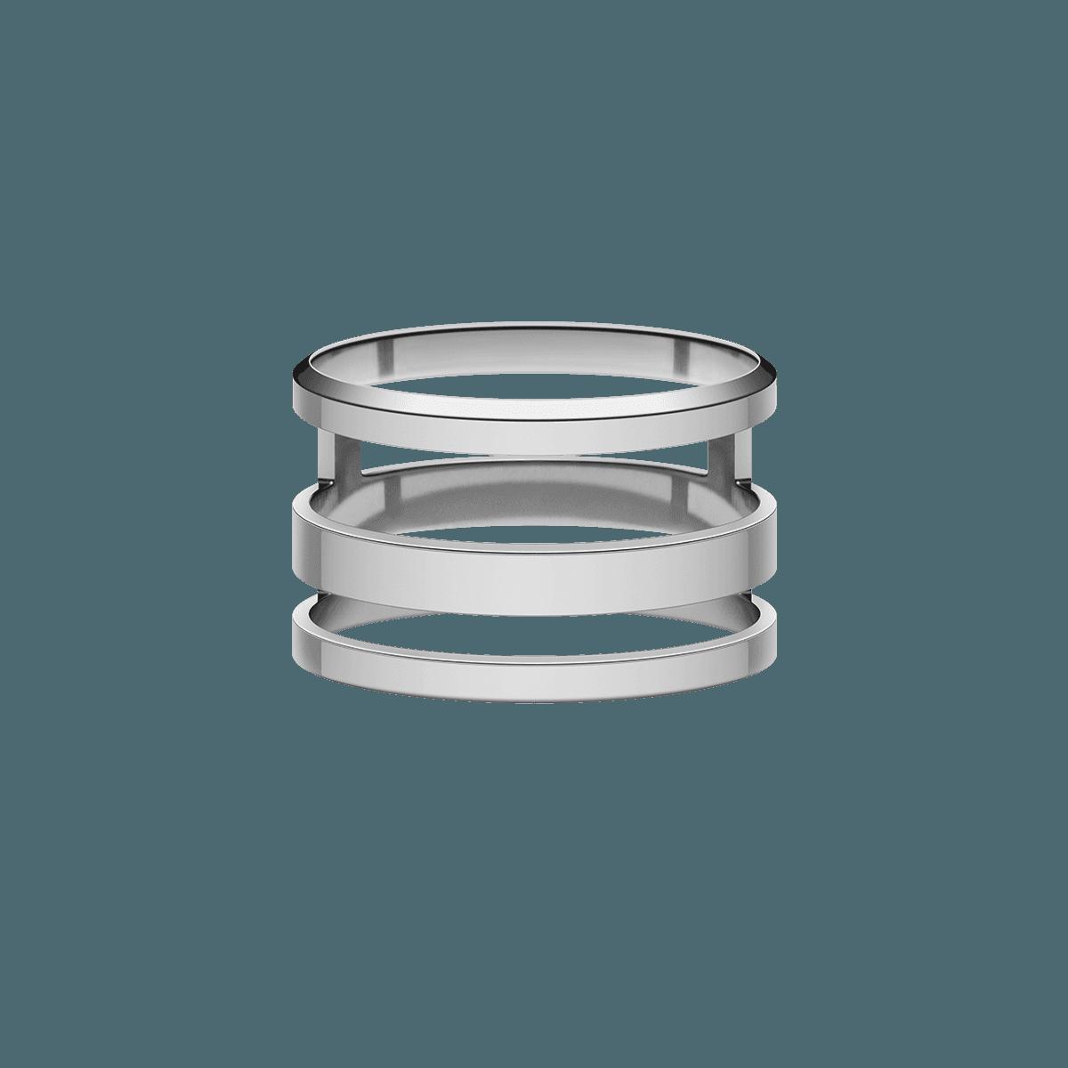 Elan Triad Ring Silver 54