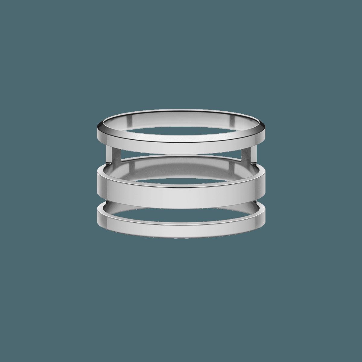 Elan Triad Ring Silver 56