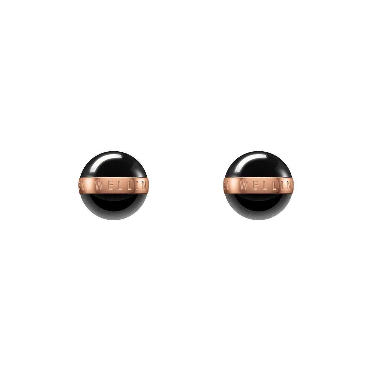 Aspiration Earrings Rose Gold Black One Size