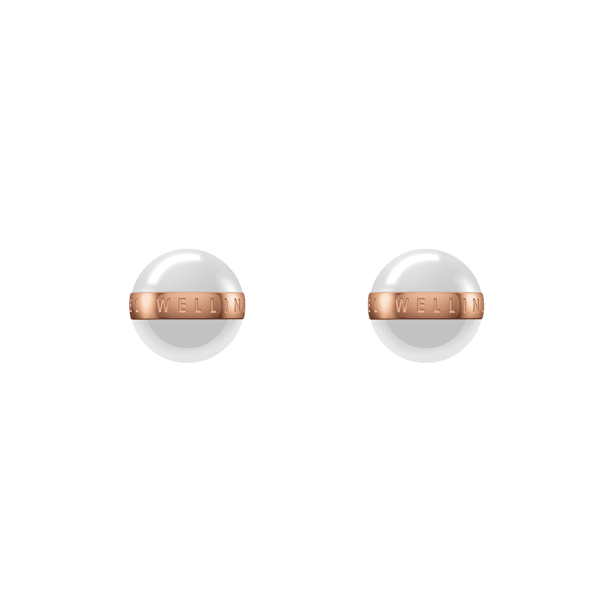 Aspiration Earrings Rose Gold Satin White One Size