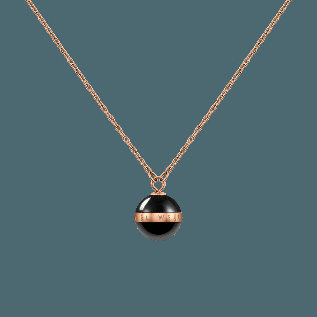 Aspiration Necklace Rose Gold Black One Size