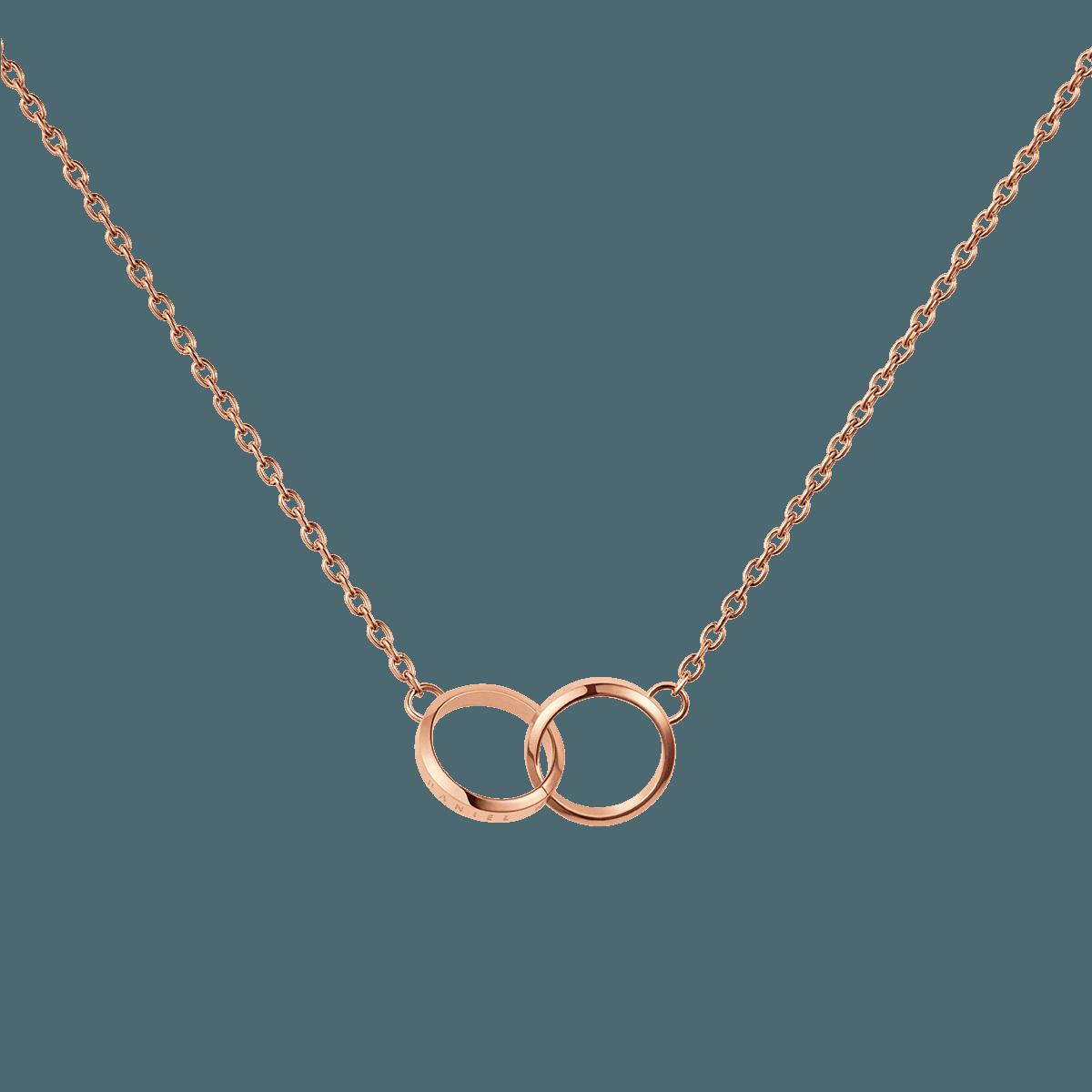 Elan Unity Necklace Rose Gold One Size