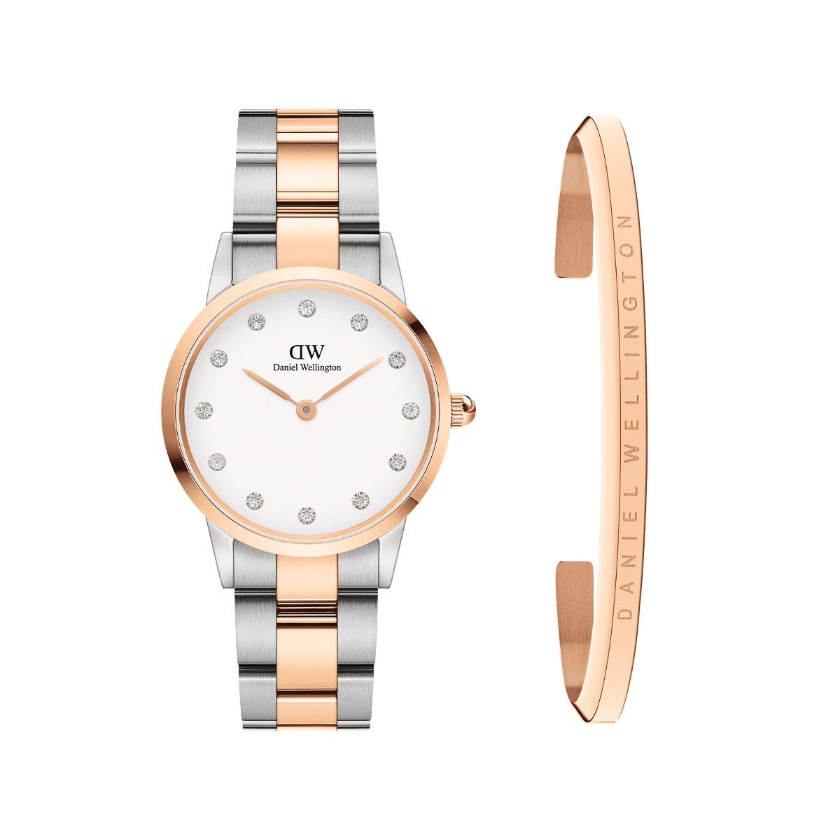 Gift Set DW00100359 + DW00400003 Iconic Link Lumine 28mm + Classic Bracelet Rose Gold Small